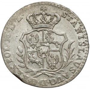Poniatowski, Półzłotek 1766 FS - 6 listków