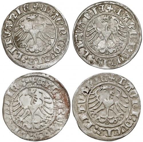 Zygmunt I Stary, Półgrosz Wilno 1513, zestaw (4szt)