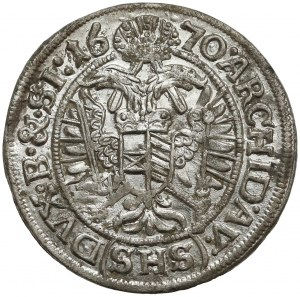 Śląsk, Leopold I, 3 krajcary 1670 SHS, Wrocław