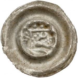 Śląsk, Brakteat szeroki - głowa lwa w koronie - b.rzadki