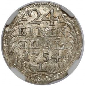 August III Sas, 1/24 talara 1754 L / EDC, Lipsk - menniczy