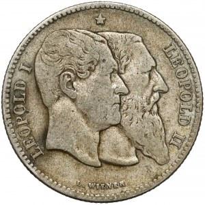 Belgia, Leopold II, 2 franki 1880