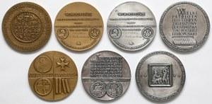 Zestaw medali - tematyka numizmatyczna, postacie numizmatyków (7szt)