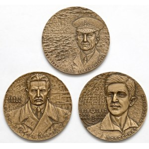 II wojna, Świrski, Rowecki i Anielewicz - zestaw medali (3szt)