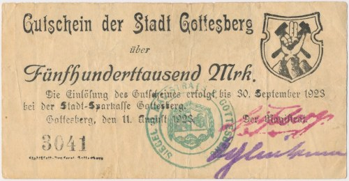 Gottesberg (Boguszów-Gorce), 500.000 mk 1923