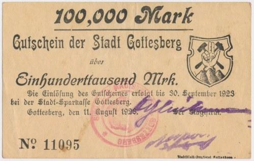 Gottesberg (Boguszów-Gorce), 100.000 mk 1923
