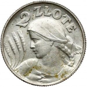 Kobieta i kłosy 2 złote 1924 - literka H - rzadkość