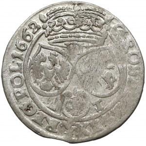 Jan II Kazimierz, Szóstak Kraków 1662 AT - obwódki na Aw. i Rw.