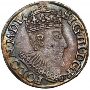 Zygmunt III Waza, Trojak Olkusz 1595 - bez znaku