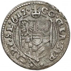 Śląsk, Karol II, 3 krajcary 1612, Oleśnica - szeroka kryza