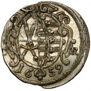 Saschen, Johann Georg II., 3 Pfennig 1659 CR