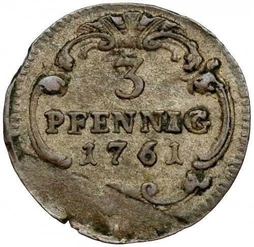 Saschen, Friedrich August II., 3 Pfennig 1761