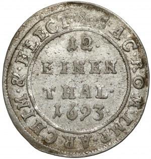 Saschen, Johann Georg IV., 1/12 Taler 1693 - Keine Initialen