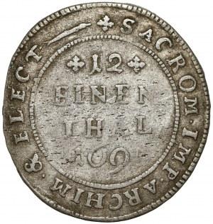 Saschen, Friedrich August, 1/12 taler 1695 EPH, Leipzig