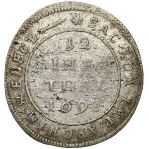 Saschen, Friedrich August, 1/12 taler 1698 EPH, Leipzig