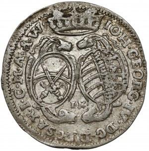 Saschen, Johann Georg IV., 1/12 Taler 1694 IK, Dresden