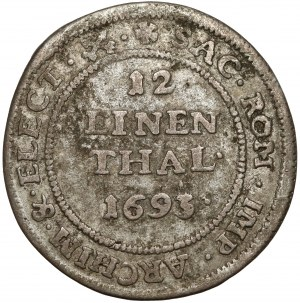 Saschen, Johann Georg IV., 1/12 Taler 1693 IK, Dresden