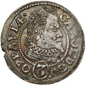 Śląsk, Karol von Liechtenstein, 3 krajcary 1614 BH, Opawa