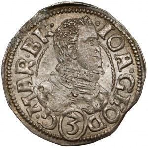 Śląsk, Jan Jerzy, 3 krajcary 1611, Karniów - bez obwódki