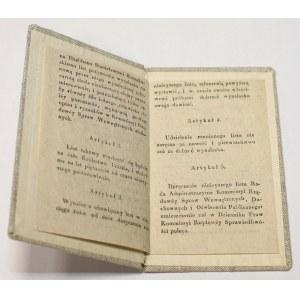 Patent na młocarnie zboża nieniszczącą słomy 1835