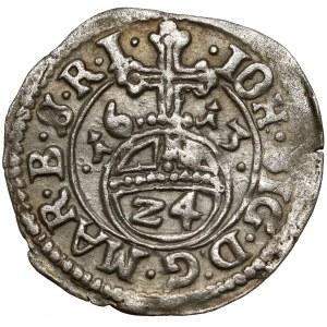 Prusy, Jan Zygmunt, Grosz (1/24 talara) 1613, Drezdenko