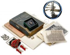 Zestaw po oficerze IIRP - jeńcu obozu Murnau - żołnierzu PSZnZ. Odznaki, naszywki, zdjęcia itp.