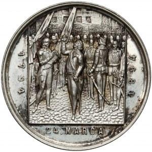 Medal, 100-lecie bitwy pod Racławicami 1894 - SREBRO