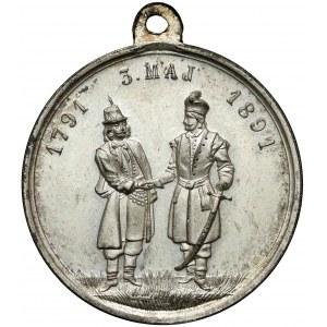 Medalik 100-lecie Konstytucji 3 Maja 1891 r.