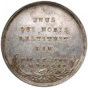 Medal na utworzenie Królestwa Polskiego 1815 - SREBRO (Majnert)