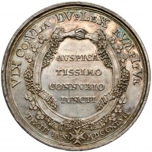 Medal ślub Marii Anny - córki Augusta III Sasa 1747