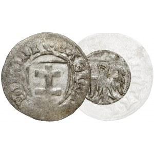 Kazimierz IV Jagiellończyk, Szeląg Toruń - BEZ tarczy - b.rzadki