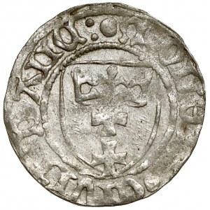 Kazimierz IV Jagiellończyk, Szeląg Gdańsk - PRZEJŚCIOWY - rzadki