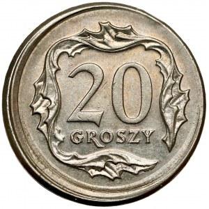 Destrukt 20 groszy 2008 - niecentryczne bicie i BRAK ZĄBKOWANIA