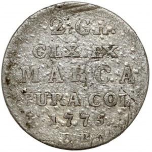 Poniatowski, Półzłotek 1775 E.B.