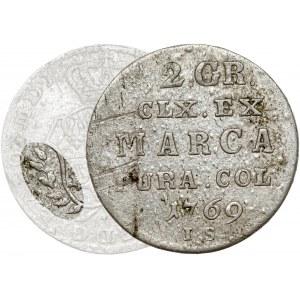 Poniatowski, Półzłotek 1769 I.S. - wczesny typ