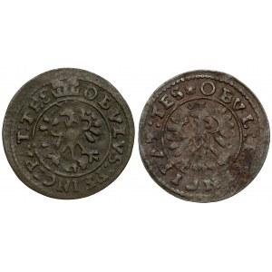 Śląsk, Elżbieta Lukrecja, Obole 1651 i 1653, Cieszyn (2szt)