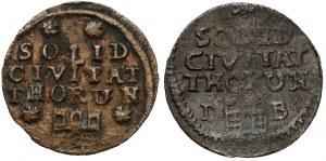 August III Sas, Szeląg Toruń 1761 - dwie odmiany (2szt)