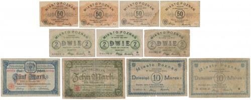 Poznań, 50 fenigów - 10 marek 1918-19 (11szt)