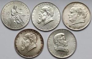 Austria, 2 szylingi 1928 - 1931 - zestaw (5szt)