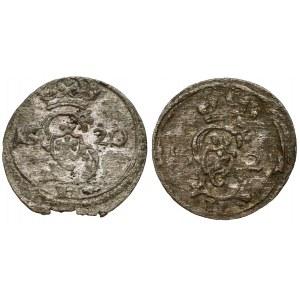 Zygmunt III Waza, Dwudenar Wilno 1620 i 1621, zestaw (2szt)