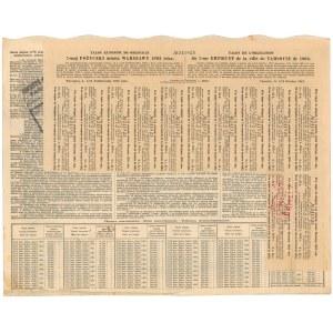 Warszawa, 4.5% VIII Pożyczka miejska - 100 rubli 1903