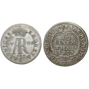 August II Mocny, 1/12 talara 1703 i 1709 ILH