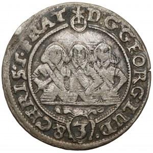 Śląsk, Trzej Bracia, 3 krajcary 1658, Brzeg