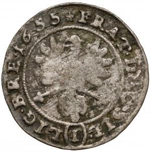 Śląsk, Trzej Bracia, 1 krajcar 1655, Brzeg