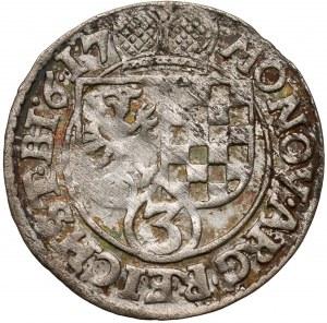 Śląsk, Jan Chrystian i Jerzy Rudolf, 3 krajcary 1617, Złoty Stok