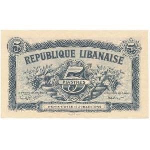 Liban, 5 Piastres 1942