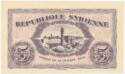 Syria, 5 Piastres 1942