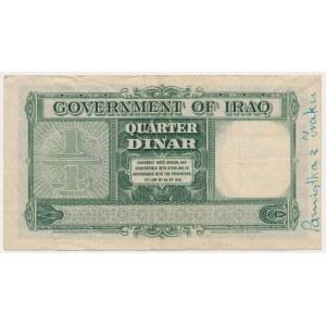 Iraq, 1/4 Dinar 1931