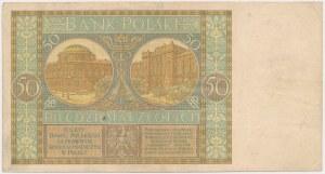 50 złotych 1929 - kropka między literami serii