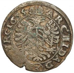 Austria, Ferdynand II, 3 krajcary 1635, Wiedeń